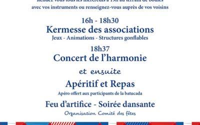 Festivités du 14 juillet 2019