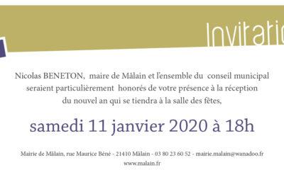 Vœux de l'équipe municipale 2020