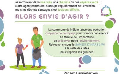 Journée citoyenne – Mâlain – Samedi 27 mars