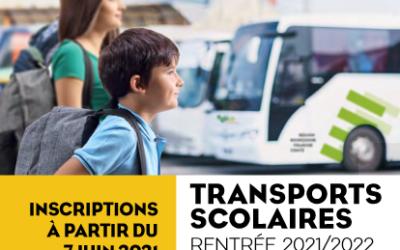 Transports scolaires : ouverture des inscriptions 2021/2022